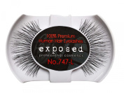 Exposed FALSE EYELASHES 100% Natural Hair HAND CRAFTED No.747-L