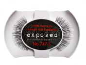 Exposed FALSE EYELASHES 100% Natural Hair HAND CRAFTED No.747-S