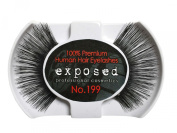 Exposed FALSE EYELASHES 100% Natural Hair HAND CRAFTED No.199