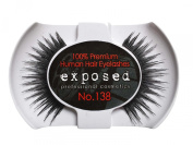 Exposed FALSE EYELASHES 100% Natural Hair HAND CRAFTED No.138