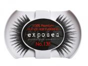 Exposed FALSE EYELASHES 100% Natural Hair HAND CRAFTED No.138