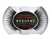 Exposed FALSE EYELASHES 100% Natural Hair HAND CRAFTED No.47