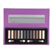 Anself 12 Colour Matte & Shimmer Eyeshadow Palette Eye Shadow Blinking Cosmetic Powder