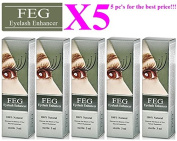 SET: 5X FEG Eyelash enhancer. The most powerful eyelash growth Serum 100% Natural. Promote rapid growth of eyelashes. 100% Original with Anti-Fake sticker!!! + GIFT