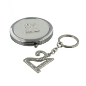 Sophia Silverplated Keyring and Compact Mirror Set