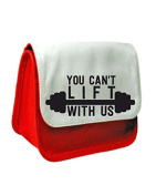 You Can't Lift With Us Work Out Gym Statement Pencil Case Or Clutch Purse Make Up Bag - Red