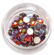 RM Beauty Nails Rhinestones with 4 mm Orange Round Glitter Rhinestones Nail Art and Nail Art