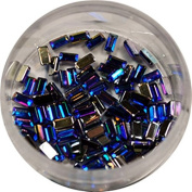 RM Beauty Nails with Rhinestones in Blue Rectangular Shape Rhinestones Glitter Nail Art and Nail Art