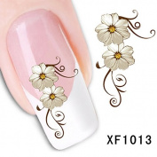 BESTIM INCUK Flower Nail Art Stickers Decal Water Transfer Manicure Decoration
