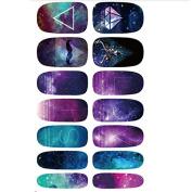 BESTIM INCUK Water Transfer Nails Art Sticker Mystery Galaxies Manicure Decor