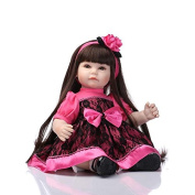 Nicery Lovely Toy Doll High Vinyl 20inch 50cm Lifelike Boy Girl Toy Pink Black Dress Pincess