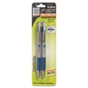 Pilot F-301 Retractable Ballpoint Pen Blue Ink Fine Point 2 Per Pack