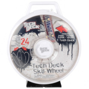 Tech Deck Sk8 Wheel Skateboard Display Case in White - Holds 24 Decks - Includes 1 Tech Deck