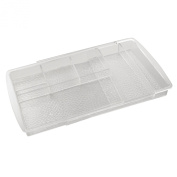 InterDesign Rain Expandable Cosmetic Drawer Organiser for Vanity Cabinet to Hold Makeup, Beauty Products - Clear