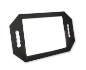HAND HELD BLACK FOAM RUBBER MIRROR PADDED BARBER SALON HAIR DRESSER RECTANGULAR MIRROR ***FREE UK DELIVERY***