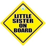 Little Sister On Board Car Sign, Sister Car Sign, Little Sister Car Sign, Baby on Board, Baby on Board sign, Baby on Board Car Sign, Sister on Board, Sister Sign, Baby Sign, Baby Car Sign, Granddaughter On Board