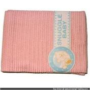 Snuggle Baby Pink Cellular Pram Blanket