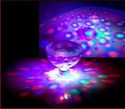 RGB Glow Light, DLAND 5 Light Patterns Colour Changing Colourful Bathroom LED Disco AquaGlow Light waterproof in tub Pond Pool Spa Hot Tub Bathtub Floating Lamp