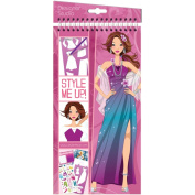 Style Me Up Fashion Sketchbook Kit-Glamorous Nights