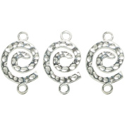 Metal Findings Silver-plated Spiral Connectors