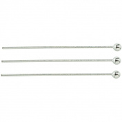 Silverplated 25-mm Ball Head Pins