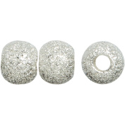 Metal Findings Silver-plated 6mm Stardust Bead