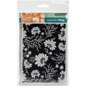 Penny Black Cling Rubber Stamp 13cm x 17cm Sheet -Floral Tapestry