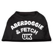 Mirage Pet Products 46cm Aberdoggie UK Screenprint Shirts, XX-Large, Black