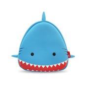 GreenForest Nursery Kids Backpacks for Boys Girls Toddler - Smile Shark Bag Blue with Red Mouth (10.4*10*10cm ) - Best Gift For 3-8 years old Girls