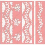Cuttlebug A2 Embossing Folder/Border Set Anna Griffin Organdy Stripe