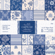 Papermania Parisienne Blue Paper Pack 15cm x 15cm 32/Sheets
