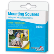Scrapbook Adhesives Mounting Squares 1000/PkgRepositionable, White, .13cm X.5in