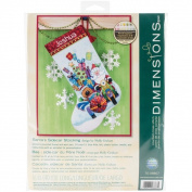 Santa's Sidecar Stocking 13 x 20 Counted Cross Stitch Kit
