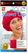 Beauty Town Shower Cap - Extra Large - Red