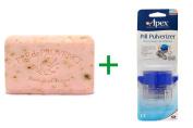 Best European Soaps, LLC, Pre de Provence, Bar Soap, Rose Petal, 260ml (250 g), ( 4 PACK ), Apex, Pill Pulverizer
