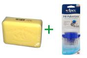 Best European Soaps, LLC, Pre de Provence Bar Soap, Ananas Pineapple, 260ml (250 g), ( 4 PACK ), Apex, Pill Pulverizer
