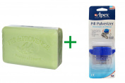 Best European Soaps, LLC, Pre de Provence Soap Bar, Apple Pear, 260ml (250 g), ( 4 PACK ), Apex, Pill Pulverizer