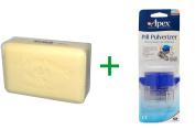 Best European Soaps, LLC, Pre de Provence, Bar Soap, Agrumes (Citrus Blend), 260ml (250 g), ( 4 PACK ), Apex, Pill Pulverizer
