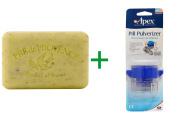 Best European Soaps, LLC, Pre de Provence, Bar Soap, Lemongrass, 260ml (250 g), ( 4 PACK ), Apex, Pill Pulverizer