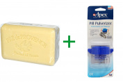 Best European Soaps, LLC, Pre de Provence Bar Soap, Verbena, 260ml (250 g), ( 4 PACK ), Apex, Pill Pulverizer