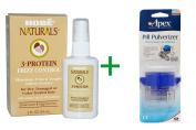 Best Hobe Labs, 3-Protein Frizz Control, 2 fl oz (59 ml), ( 4 PACK ), Apex, Pill Pulverizer