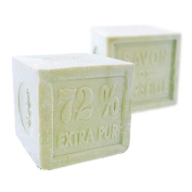 Foufour Natural Verte Olive Oil Marseille Traditional French Receipt Soap Cube 600G