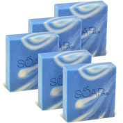 Surf's Up Ocean Scent Olive Oil Natural Soap By Soap Club 160ml 5 Pack