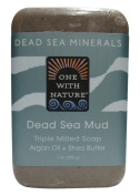 One With Nature Dead Sea Bar Soap, Sea Mud, 6 Count