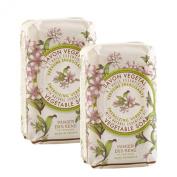 PANIER DES SENS Relaxing Verbena Vegetable Soap - 2 Bars, 160ml Each