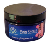 Soothing, Healing Foot Cream in Cooling Peppermint, Use as a Healing Foot Cream for Cracked Heals, or Foot Massage Cream for Pampering and Rejuvenation, 120mls