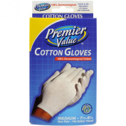 Premier Value Cotton Gloves Medium - 1 pr