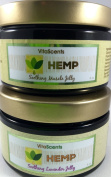 Hemp Oil Soothing Muscle Jelly & Lavender Jelly for Muscular Pain Relief 2 PACK