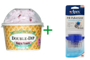 Best Smith and Vandiver Bath Fizz, Double-Dip Fizz & Foam, Cherries Jubilee, 120ml (113 g), ( 4 PACK ), Apex, Pill Pulverizer