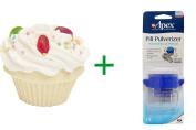 Best Smith and Vandiver Bath Fizz, The Fizzy Baker, Cupcake Bath Fizz, Jelly Bean, 160ml (148 g), ( 4 PACK ), Apex, Pill Pulverizer